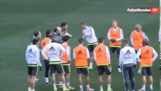 First Training Of Real Madrid In Melbourne Austral