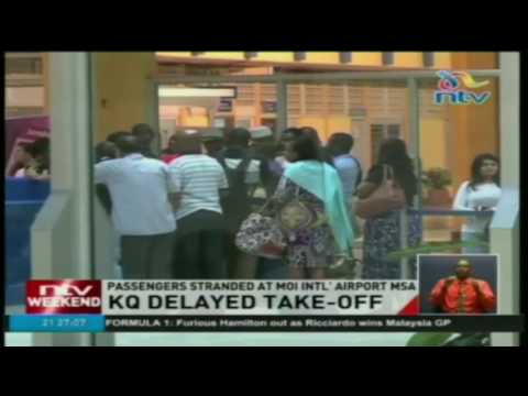 Passengers stranded at Moi international airport in Mombasa