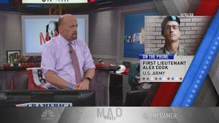 """""""mad money"""" host jim cramer rings the lightning round bell, which means he's giving his answers to callers' stock questions at rapid speed. for access liv..."""