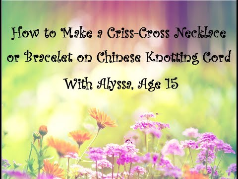 how to make a cord necklace without clasp