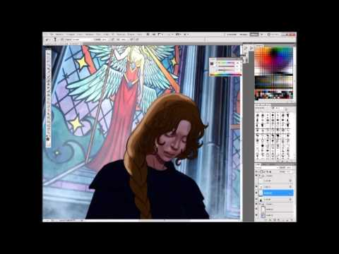 Learn how to depict stained glass