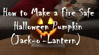 How to Make a Scary Halloween Pumpkin with LED Flame Effect Candle