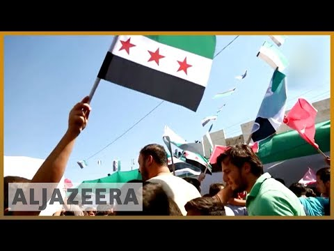 Protests held in Idlib demanding Assad leaves power   Al Jazeera English