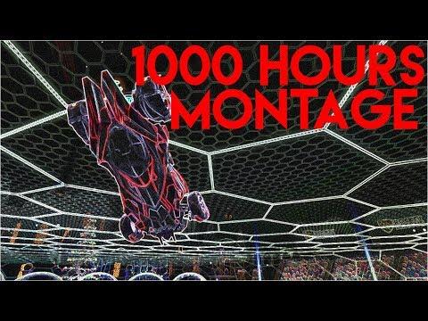 0 - 1000 HOURS ROCKET LEAGUE MONTAGE | Ceiling shots, fakes, air dribbles