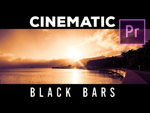 How to make CINEMATIC BLACK BARS in PREMIERE PRO