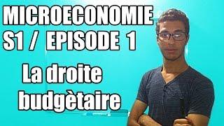 Episode 1 Microéconomie S1 la droite budgétaire darija marocaine