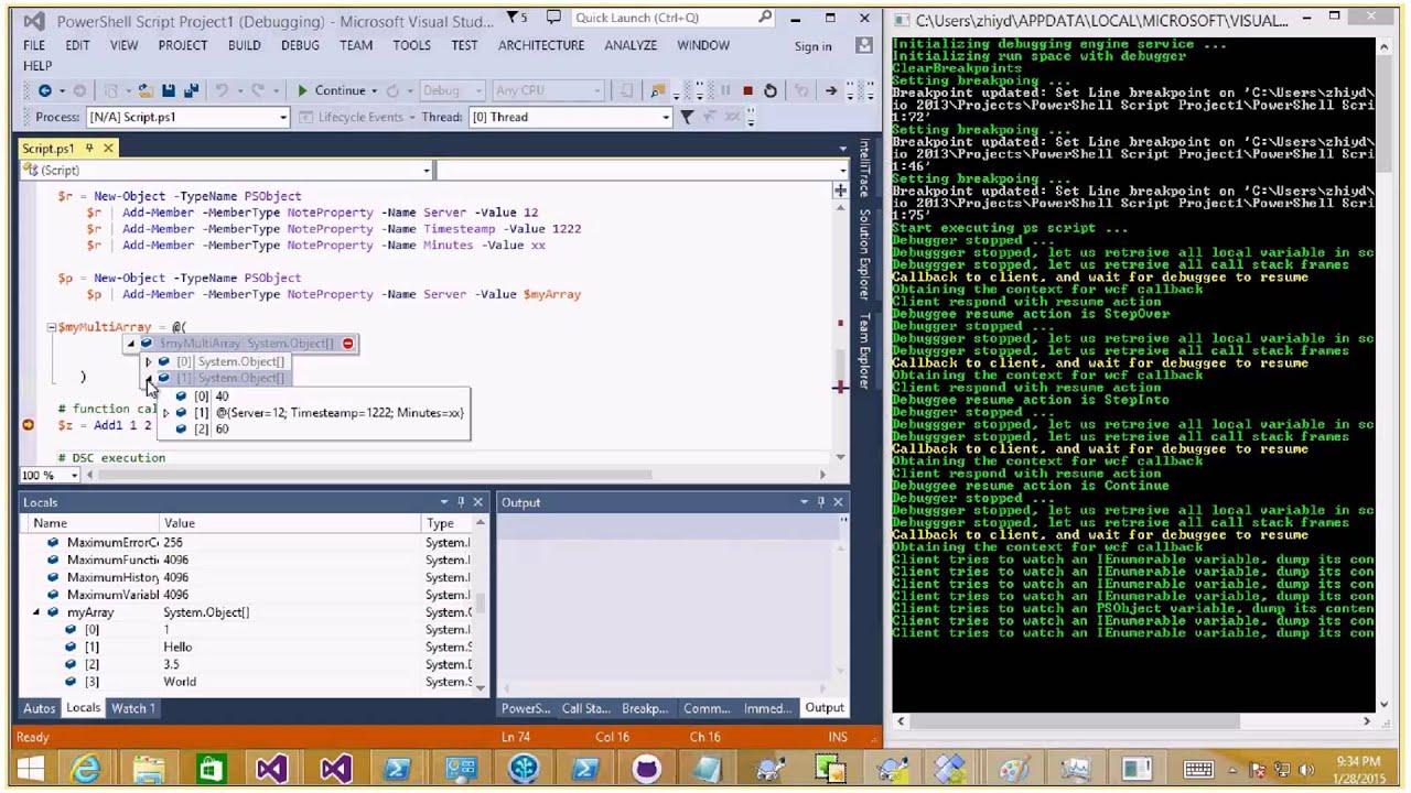 64-Bit PowerShell Debugging in Visual Studio