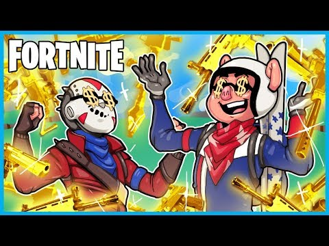 *NEW* SOLID GOLD MODE in Fortnite: Battle Royale! (Fortnite Funny Moments & Fails)