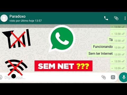 Meu WhatsApp está funcionando sem internet, o seu também?