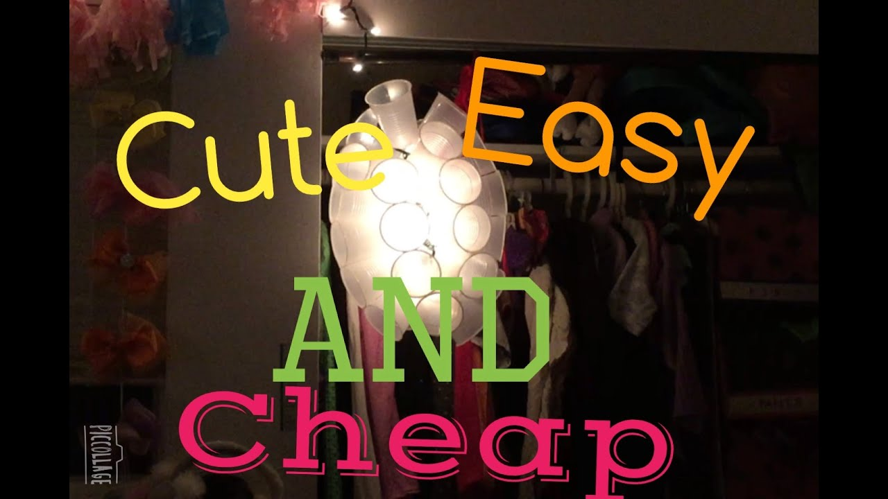 How to make a cup chandelier youtube how to make a cup chandelier arubaitofo Image collections