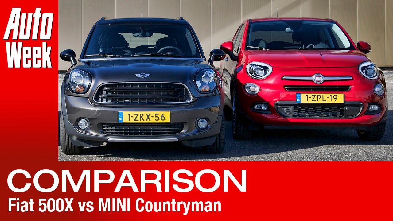 Fiat 500x Vs Mini Countryman English Subtitled Youtube