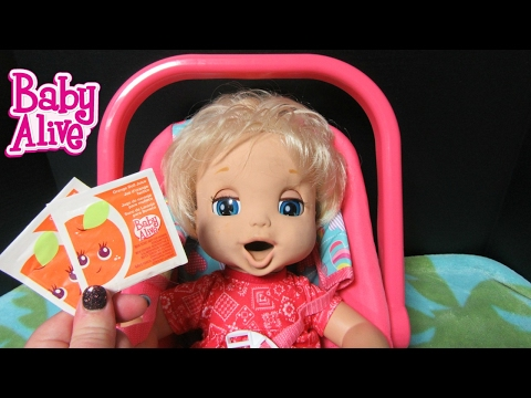 BABY ALIVE 2006 Soft Face London drinks 2 Vintage doll Orange Juices + Changing