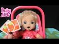 BABY ALIVE 2006 Soft Face London drinks 2 Vintage doll Orange Juices   Changing