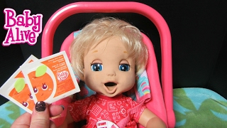BABY ALIVE 2006 Soft Face London Poops + Pees Doll drinks 2 Vintage doll Orange Juices + Changing