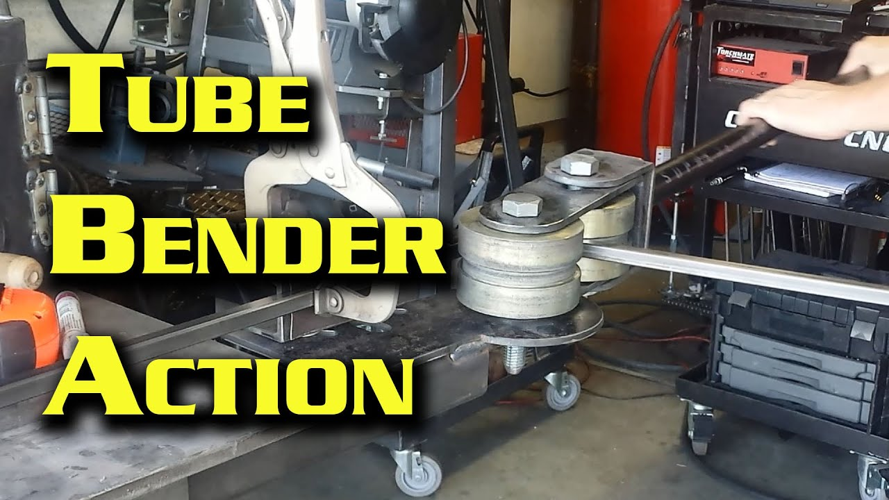 Bending Tubing Using My Homemade Bender With Harbor ...