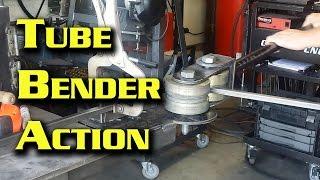 Bending Tubing Using My Homemade Bender With Harbor Freight Dies