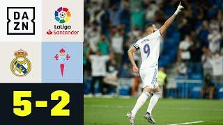 Benzema trifft dreifach zur königlichen Tabellenführung: Real Madrid - Celta Vigo 5:2   LaLiga  DAZN
