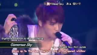 Kim Jaejoong 김재중 - Glamorous Sky (2013 Concert in Tokyo Dome) [eng + romaji + 日本語 + karaoke sub]