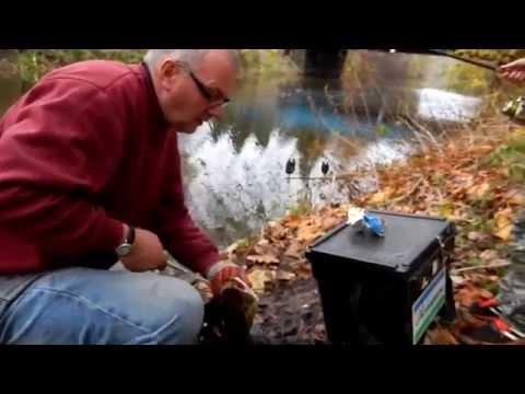 Tim & Grandson Pike Fishing River Weaver.31-10-14 Winsford Cheshire.
