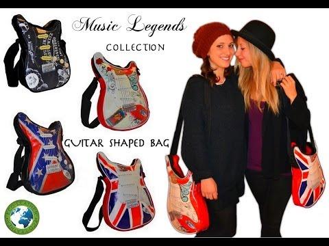 Music Legends Collection Shoulder Guitar shaped bags