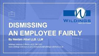 Dismissing an Employee Fairly - Employment Law Webinar