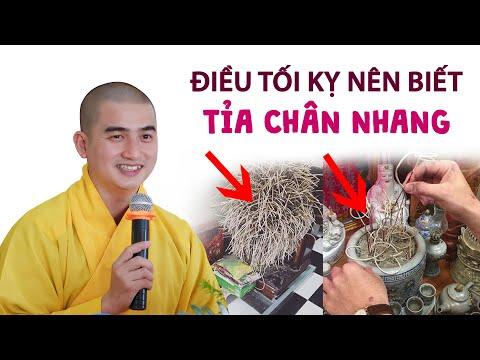ĐIỀU TỐI KỴ nên biết khi TỈA CHÂN NHANG - Thầy Minh Thiền