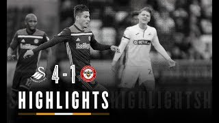 Match Highlights: Swansea City 4 Brentford 1