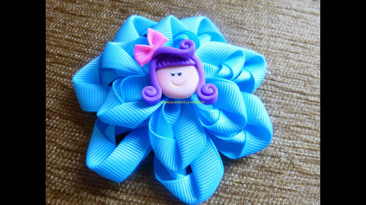 Lindas y faciles flores en cinta how to make a hair bow manualidades la hormiga youtube - Lazos en cinta ...