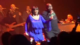 Patti LaBelle brings fans on stage during Lady Marmalade in Milwaukee