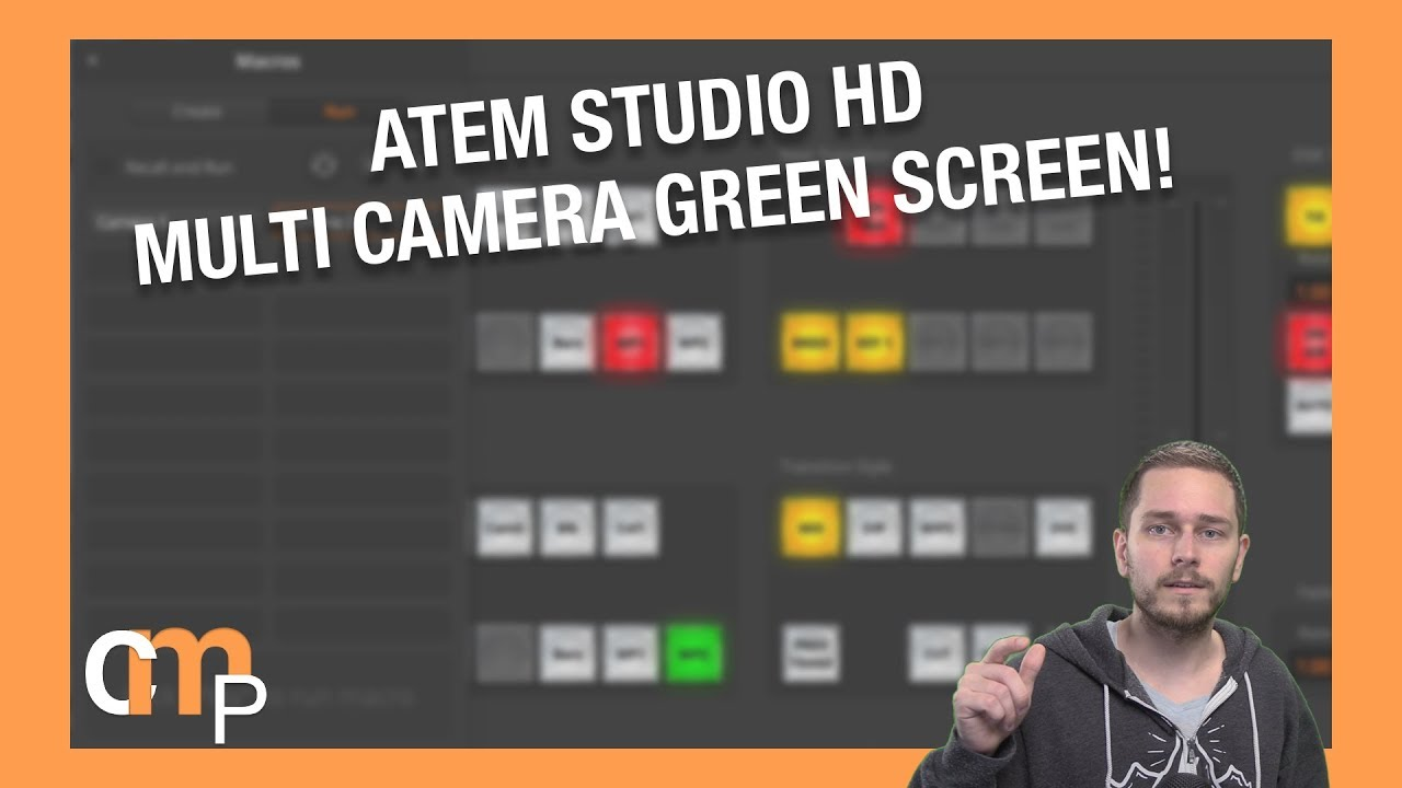 Two Camera Green Screen With Blackmagic Atem Studio Hd Live Production Switcher Youtube