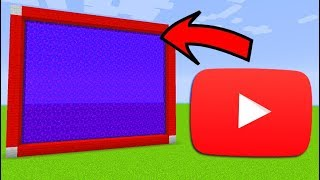 How To Make a Portal to the YOUTUBE Dimension in Minecraft PE
