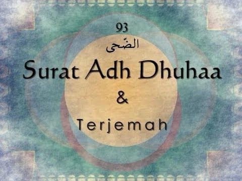 Surat Adh Dhuha Dan Terjemah Indonesia