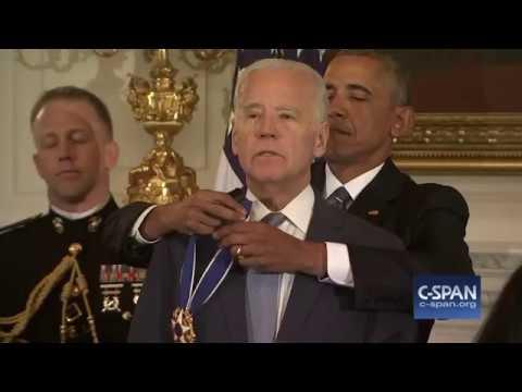 VP Joe Biden receives Presidential Medal of Freedom from President Obama (C-SPAN)