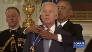 VP Joe Biden receives Presidential Medal of Freedom from President Obama (C-SPAN)