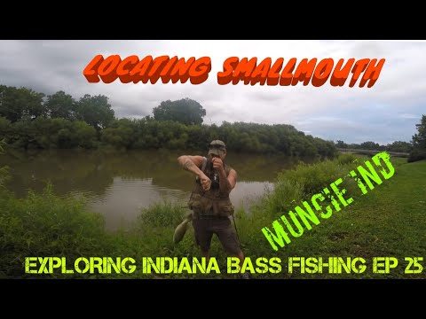 SMALLMOUTH  BASS @ White River(Muncie, IN): Exploring Indiana Bass Fishing Ep25