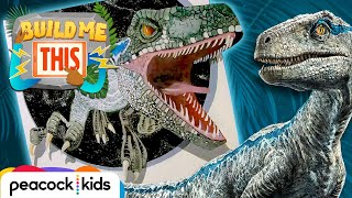 SCARY 3D Chalk Art of Blue! | JURASSIC WORLDS BUILD ME THIS