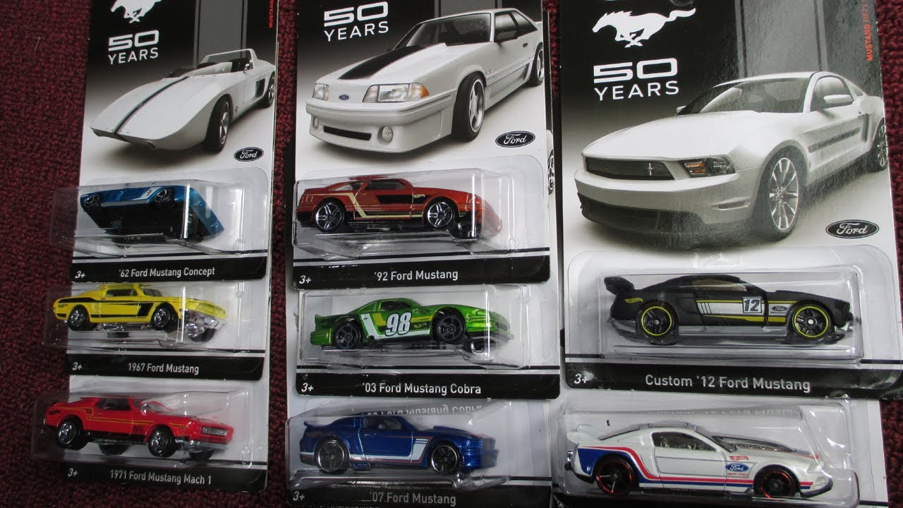 Hot Wheels 50 Years Of Mustangs Walmart 8 Car Set Youtube