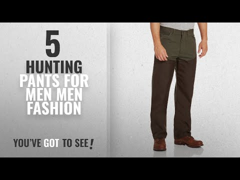 Top 10 Hunting Pants For Men [Men Fashion Winter 2018 ]: Wrangler Men's Pro Gear Ripstop Upland