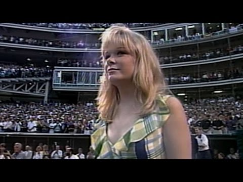 1997 ASG: LeAnn Rimes performs the national anthem