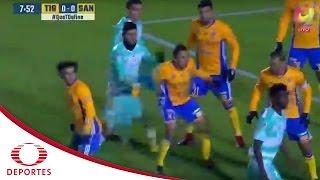 Buena reacción de Palos | Tigres 0-0 Santos | Televisa Deportes