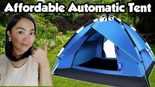 AFFORDABLE AUTOMATIC TENT & SEṪUP   BACKPACKING INA