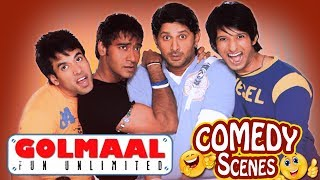 Golmaal Fun Unlimited - All Comedy Scenes - Ajay Devgn - Arshad Warsi  IndianComedy