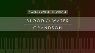 BLOOD WATER | Grandson Piano Tutorial