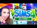 OMG! ☃️ THE SIMS 4 SEASONS!! TRAILER REACTION! 🌈☀️