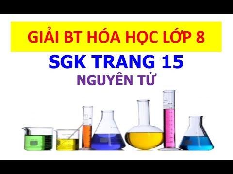 Giải bài tập hóa học 8 trang 15 – Nguyên tử