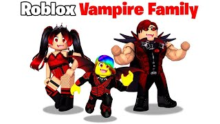 BABY Tofuu gets Adopted by VAMPIRE Family! 🧛🏻‍♂️🩸(Roblox)