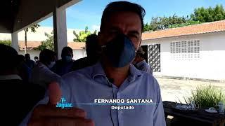 Ibicuitinga   Deputado estadual Fernando Santana presente na inauguração do posto do Detran, prestig