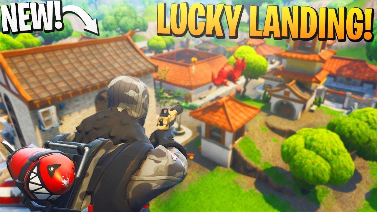 ps4 fortnite lucky landing loot spot - fortnite landing randomizer season 8