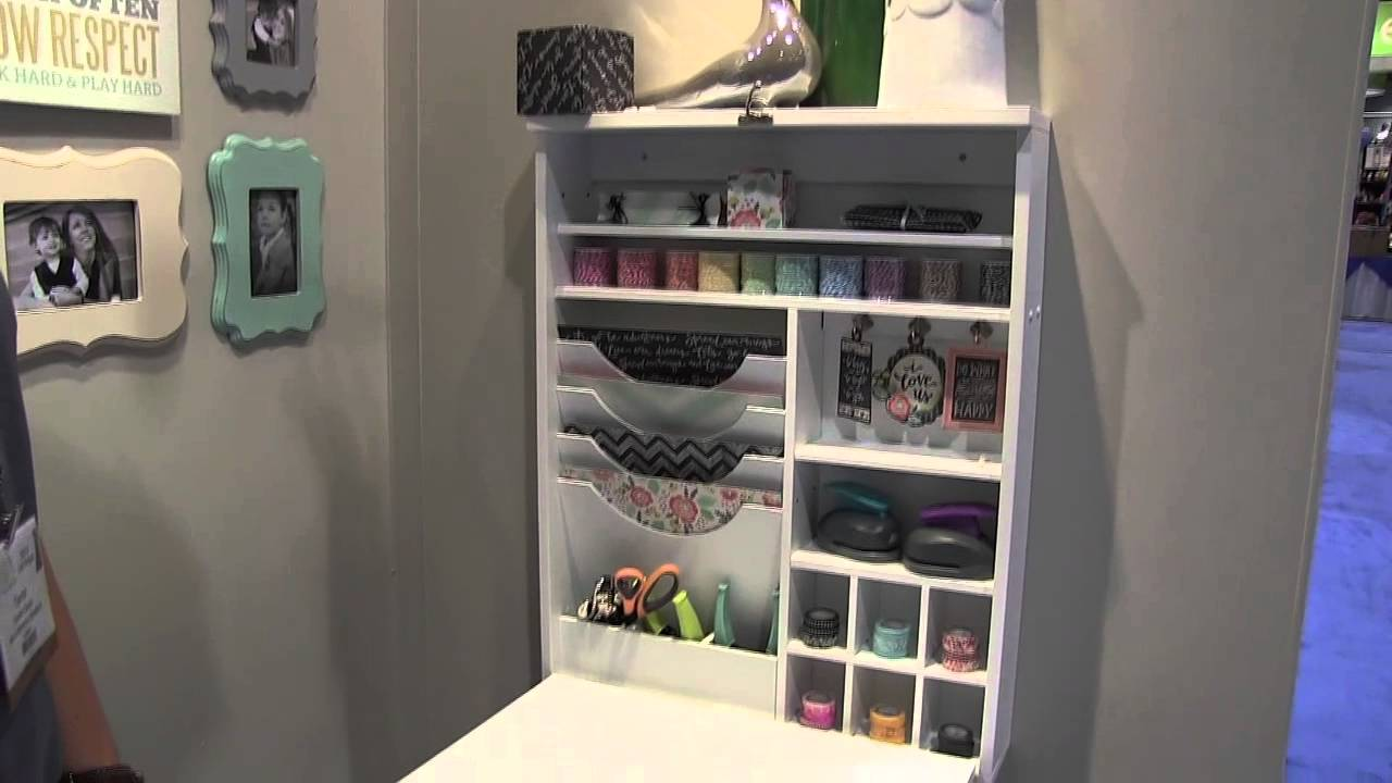 wrmk fold down craft table - cha summer 2013 - youtube