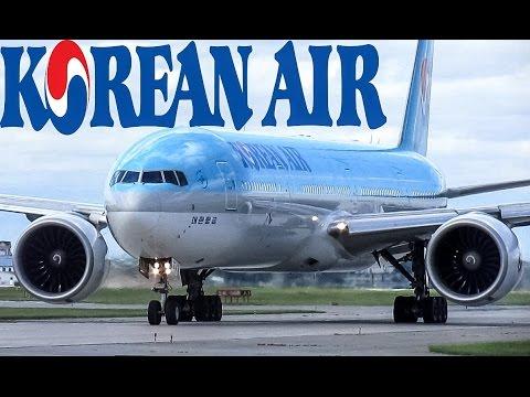 Korean air 777-300ER (B77W) landing & departing YUL